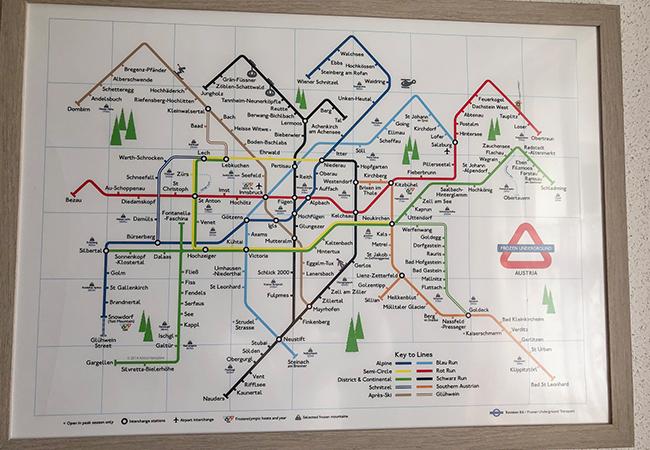 Austrian ski underground poster